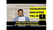 100% Guaranteed #Singapore Visa in 2 Days | Complete information, Process, Documents, Letter formats