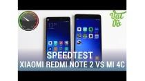 Vật Vờ| So sánh Xiaomi Mi 4c và Redmi Note 2: tốc độ, quản lí ram