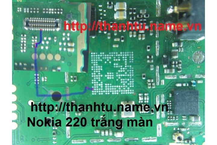 Nokia 220 trắng màn - Kỹ Thuật Sửa Chữa Điện Thoại - Máy Tính