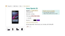 Nghi vấn siêu phẩm Sony Xperia Z1 giảm giá kỉ lục