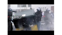 France: Chaos in Lyon as 'Yellow Vests' clash with police