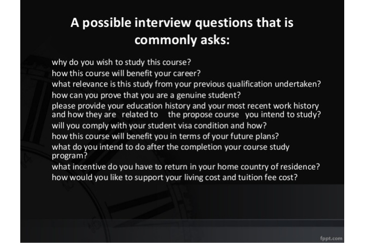 TIPS FOR STUDENT VISA INTERVIEW