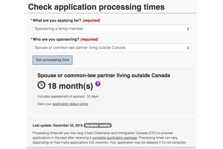 student spouse visa canada processing time