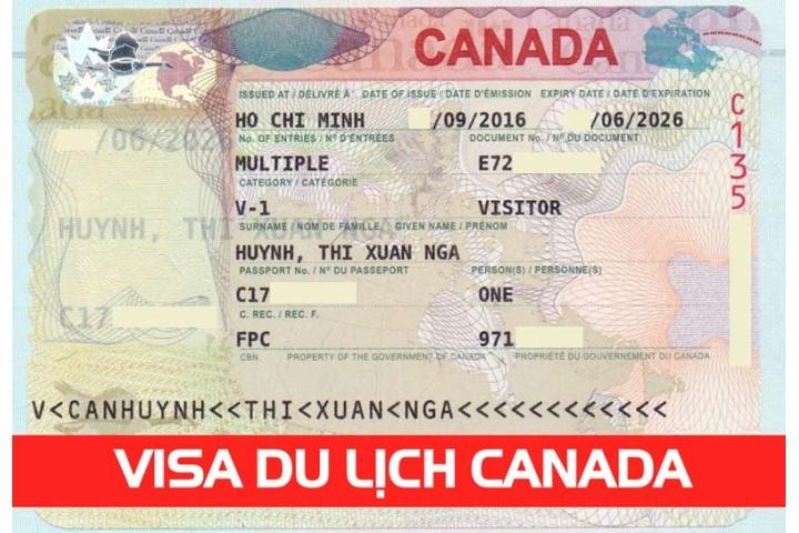 Visa du lịch Canada thời hạn 10 năm cô Huỳnh Thị Xuân Nga