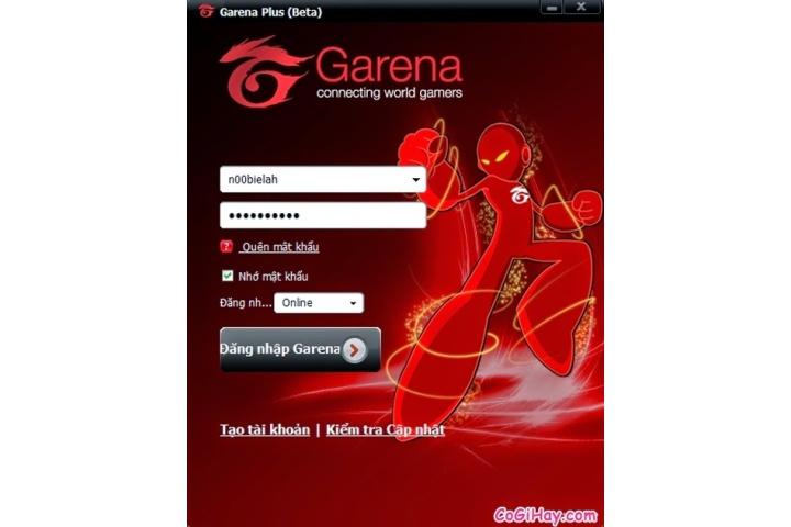 Đăng nhập Garena – Trang quản lý mật khẩu tài khoản garena