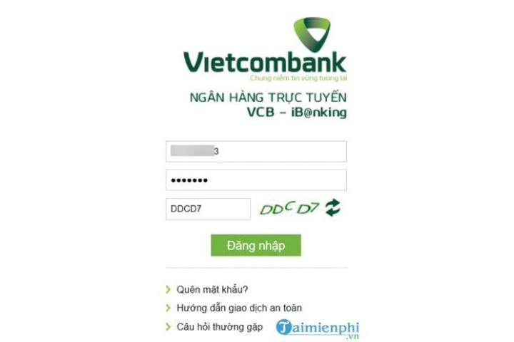 Cách sử dụng Internet Banking Vietcombank