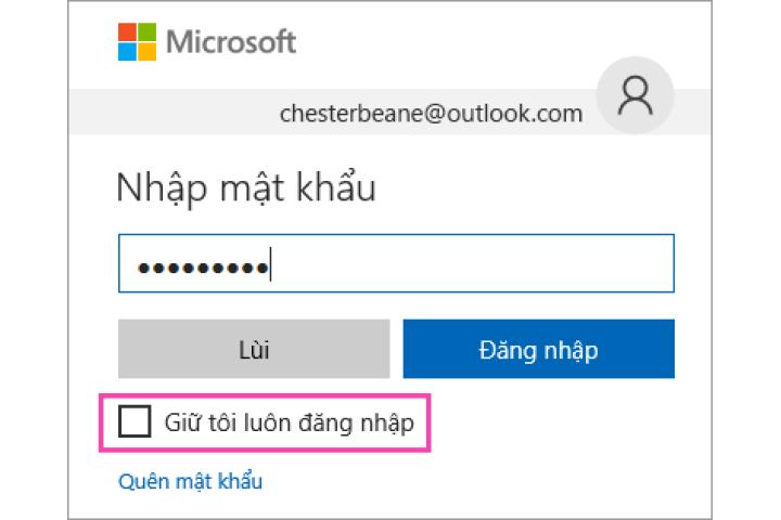 Cách đăng nhập hoặc đăng xuất Outlook.com - Outlook