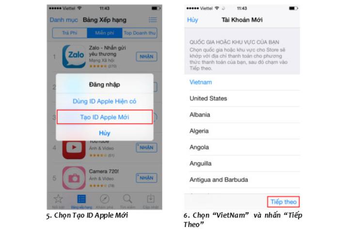 Cách đăng ký id Apple miễn phí cho điện thoại iPhone và Mac