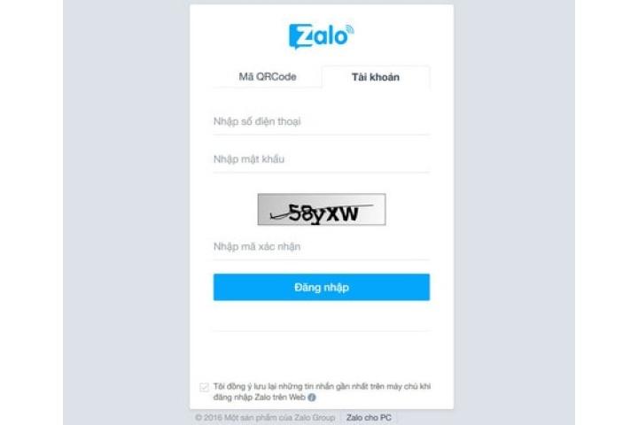 Đăng nhập Zalo trên máy tính bằng trình duyệt web, đăng nhập Zalo bằng