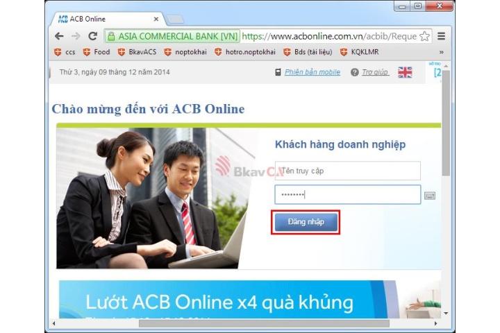 Hướng dẫn sử dụng Chữ ký số Bkav CA vào dịch vụ Internet Banking của ...