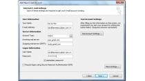 Hướng dẫn cài đặt Email theo tên miền trên Microsoft Outlook 2010 ...
