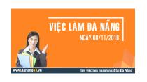 Bản tin tổng hợp Việc làm Đà Nẵng ngày 08/11/2018