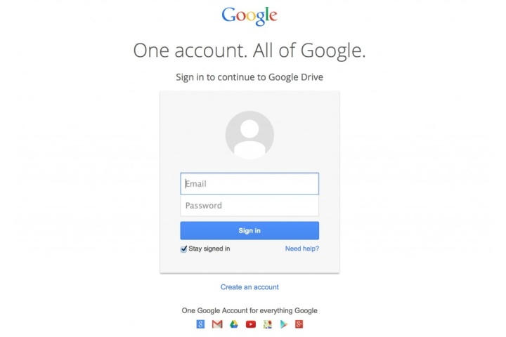 Google Drive Login & Sign In Page | TMB