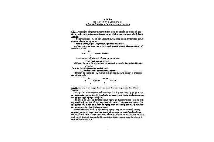 Đáp án môn: Khoa học vật liệu dệt (đề 1-2)|Thời trang - Làm đẹp ...