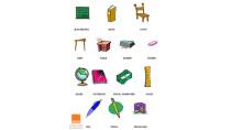 Từ vựng tiếng Anh qua hình ảnh miễn phí về dụng cụ học tập