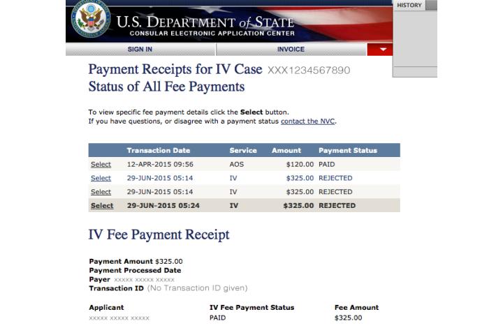 immigrant visa fee nvc