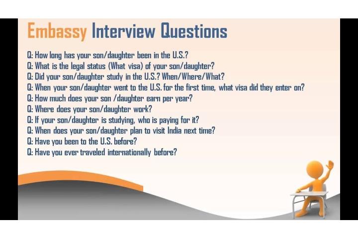 Us Tourist Visa Interview Questions For Parents