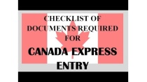 Documents checklist for Canada express entry 2019