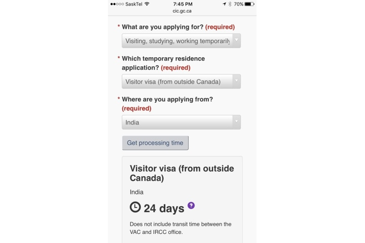 canada online student visa processing time india