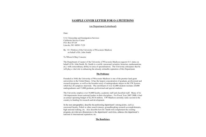 Cover Letter For Student Visa