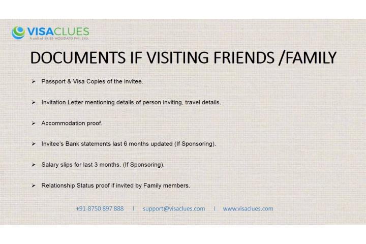 canada tourist visa document checklist from india