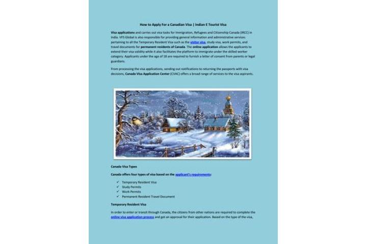 canada tourist visa vfs india