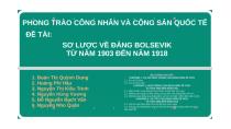 PHONG TRÀO CÔNG NHÂN VÀ CỘNG SẢN QUỐC TẾ by Mưa Bụi on Prezi