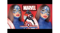 Trang Điểm Captain America [ MARVEL ] | Marvel's Captain America Makeup Transformation