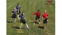 Thang dây bóng đá tập luyện