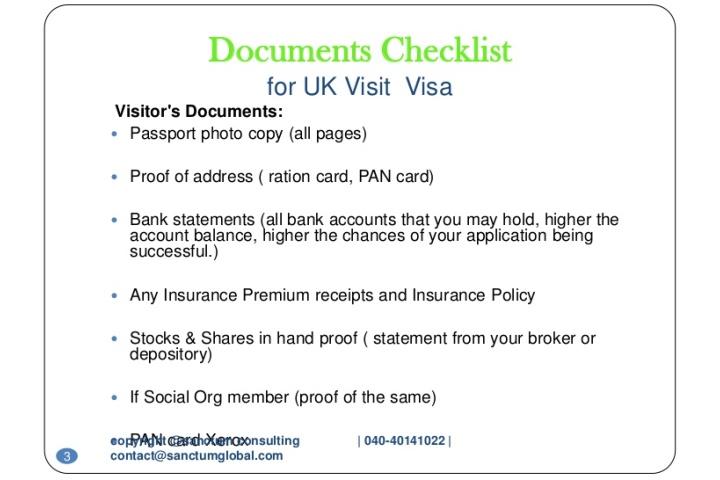 Top 10 Punto Medio Noticias   Uk Visit Visa Documents Checklist