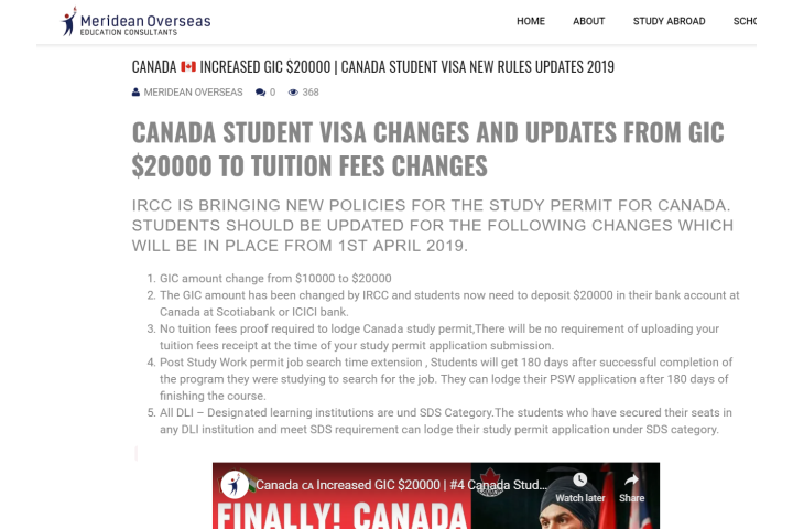 canada student visa rules
