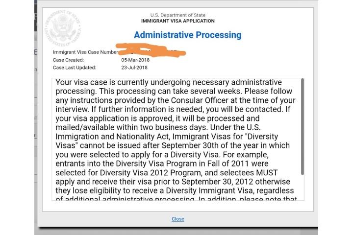 221g administrative processing time immigrant visa