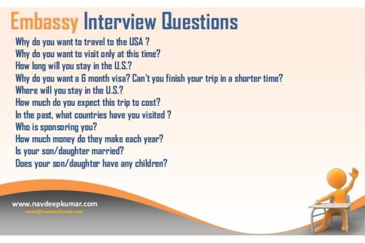 us non immigrant visa interview questions