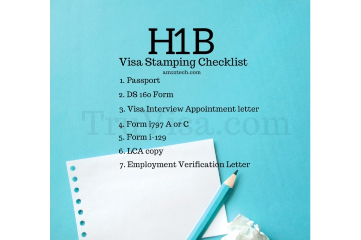 H1b visa stamping interview documents