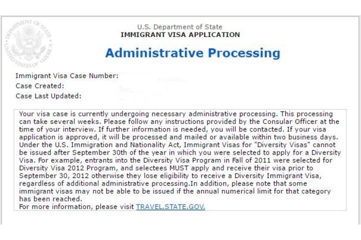 us non immigrant visa administrative processing time