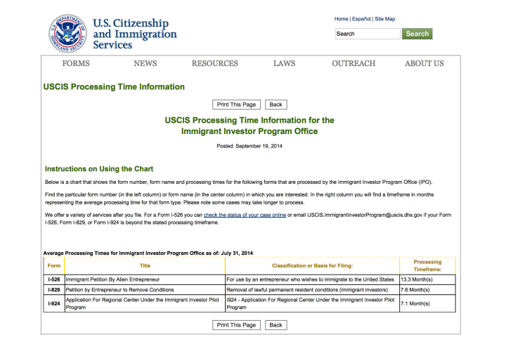 Uscis Case Processing Times