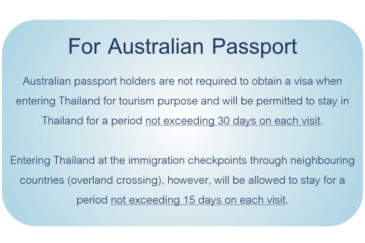 Australian Tourist Visa Application Form Thailand