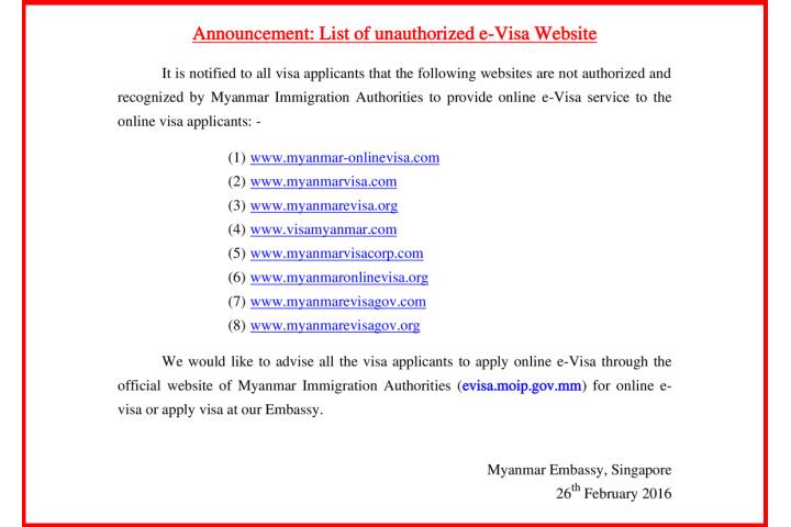 myanmar tourist visa application form singapore