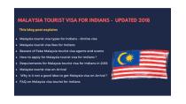 Malaysia tourist visa for Indians - Updated 2019 - VISA MALAYSIA