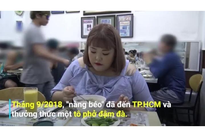 Cô gái nặng 130 kg xuýt xoa thưởng thức phở, bánh xèo Việt