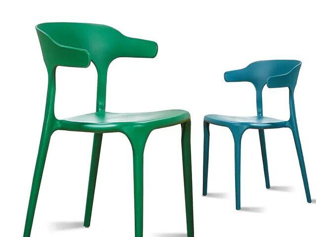 Ghế nhựa đơn giản cho phòng ăn kiểu Bắc Âu Nordic