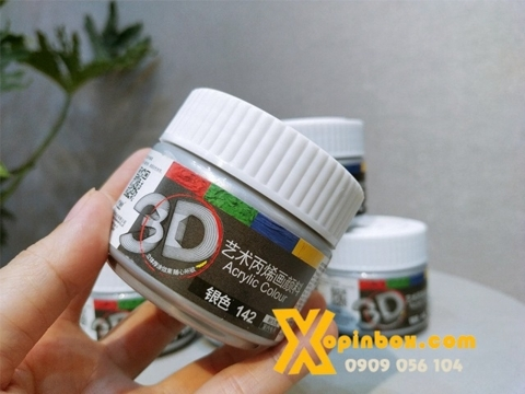 Màu Acrylic Nhũ Bạc 100ML