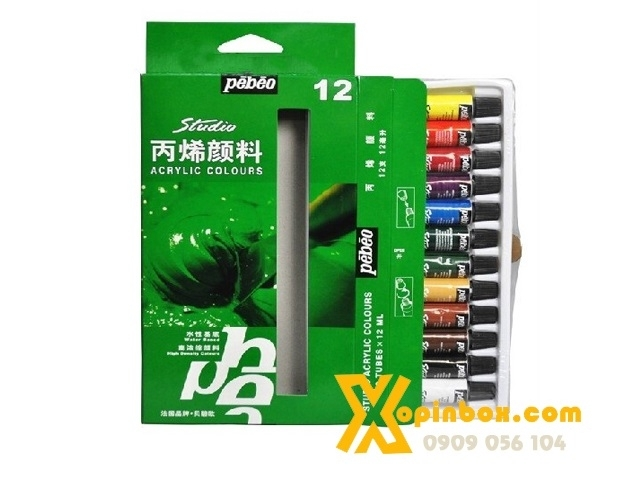 Màu Acrylic Pebeo 12 Tuýp (12ml)
