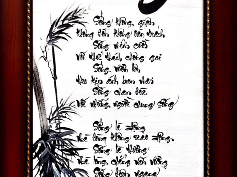 Thư pháp bài thơ sống 387801