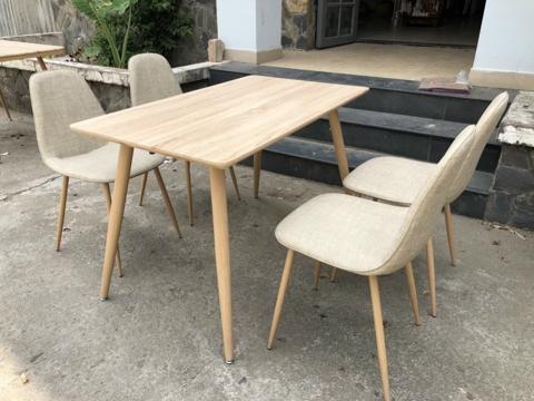 Bộ bàn ghế ăn chuẩn theo thiết kế