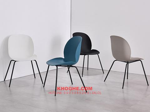 Ghế ăn, ghế cafe mặt nhựa hiện đại TRTH BEETLE PP