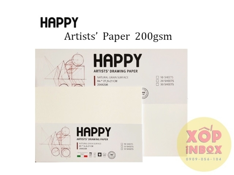 Giấy vẽ canson Happy Ý 200gsm A5