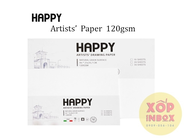 Giấy vẽ canson Happy Ý 120gsm A4