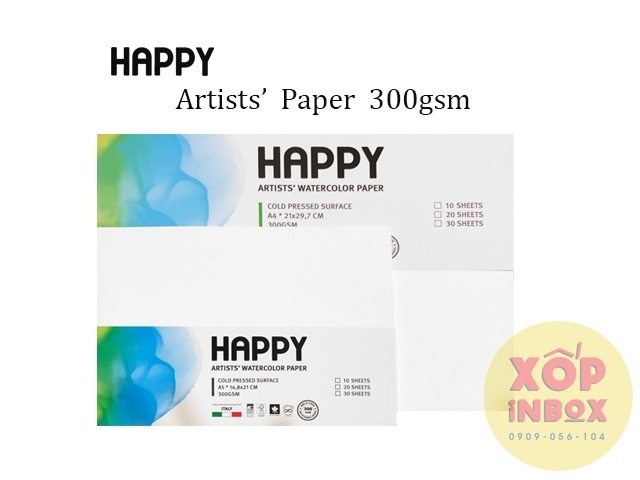 Giấy vẽ canson Happy Ý 300gsm A5