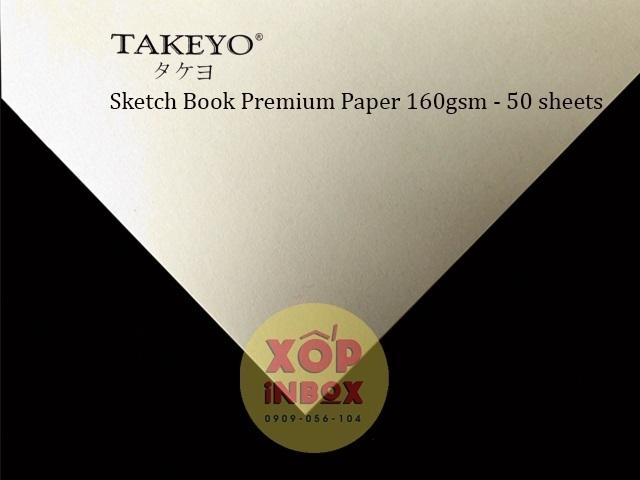 Sổ vẽ Takeyo Sketch book  A4 160gsm